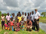 Group photo with farmer community in Mjinchi