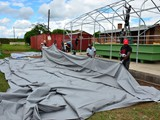Preparation of the tent cover